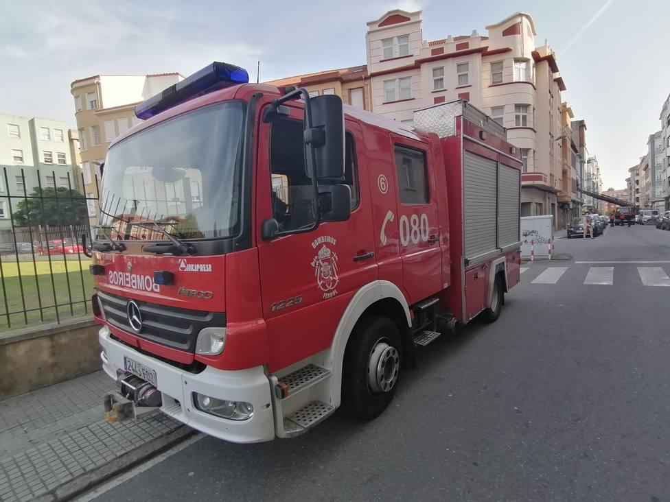 Foto de archivo de un camión de Bomberos Ferrol