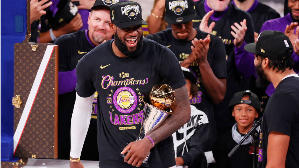 Lebron James, MVP de las Finales de la NBA 2020. EFE
