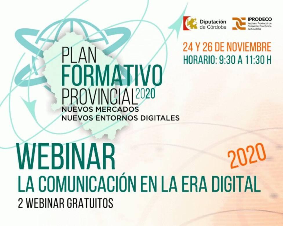 Iprodeco pone en marcha un taller online sobre cómo comunicar en la era digital