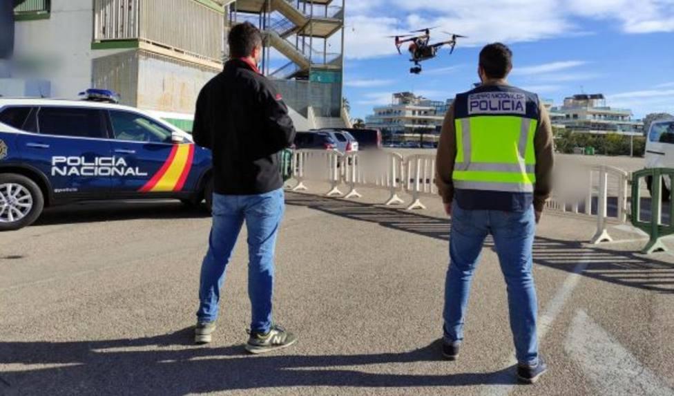Activan el protocolo anti dron por el vuelo no autorizado de una aeronave durante un partido en La Condomina