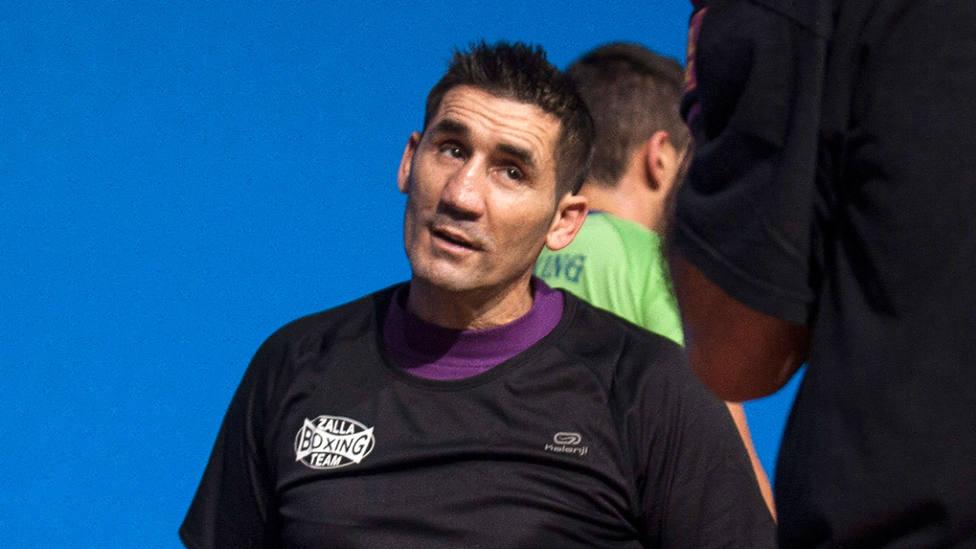 Poli Díaz, durante un entrenamiento en 2013. EFE