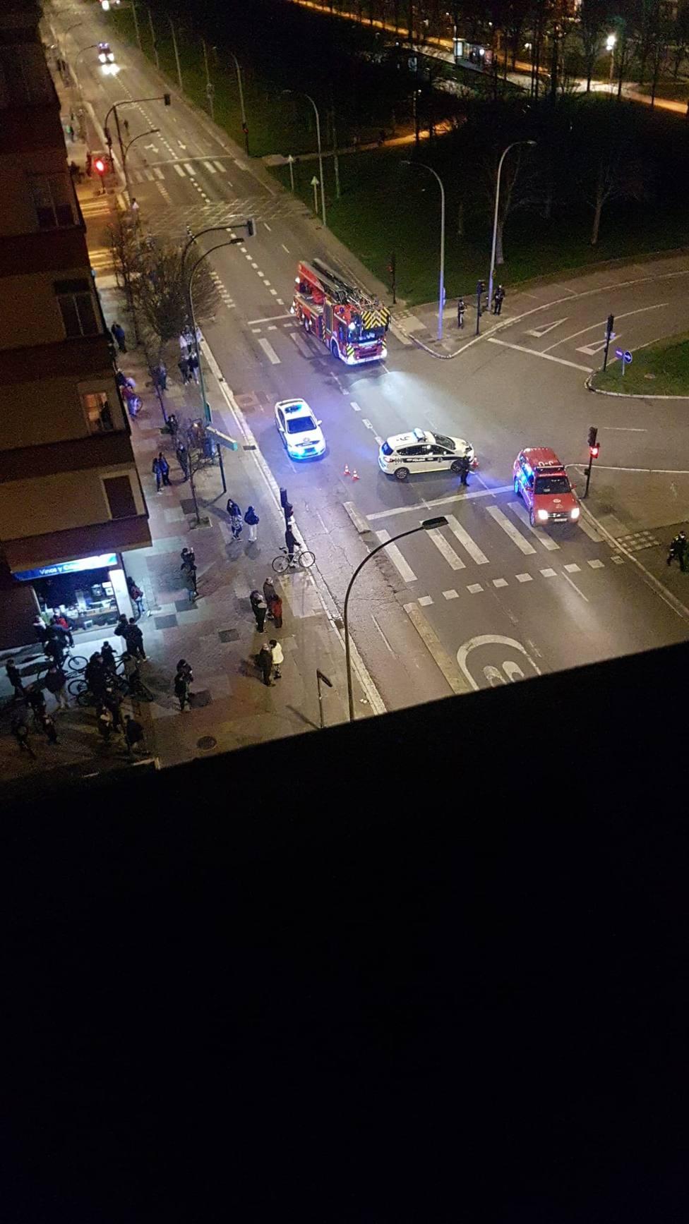 Imágenes difundidas por whatsapp, calle Portal de Foronda