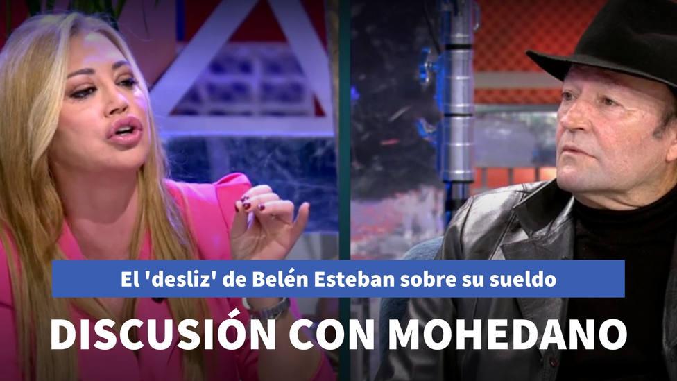 El 'desliz' de Belén Esteban sobre su sueldo en plena discusión con Amador Mohedano en Sábado Deluxe