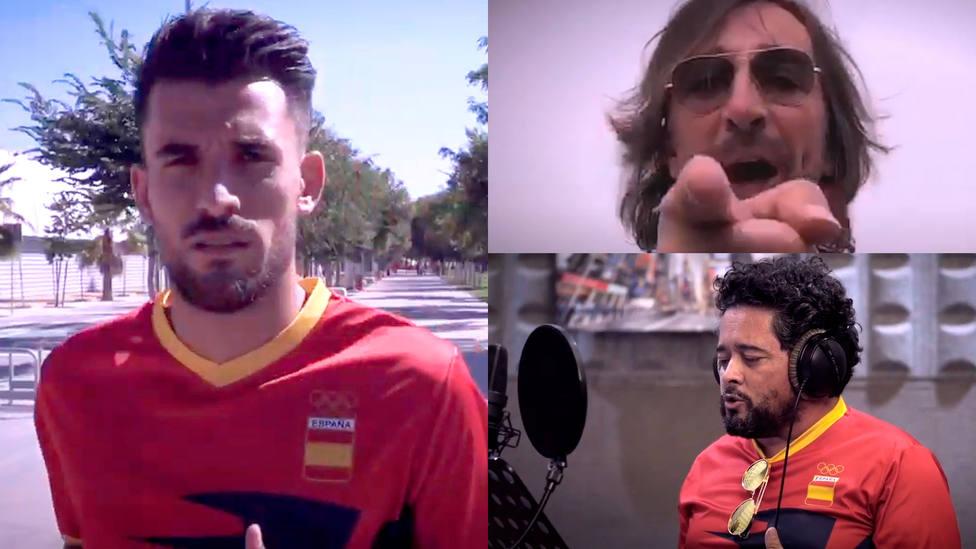 Dani Ceballos, Antonio Carmona y Rafael de Utrera, en el vídeo de la canción Vamos pa Japón