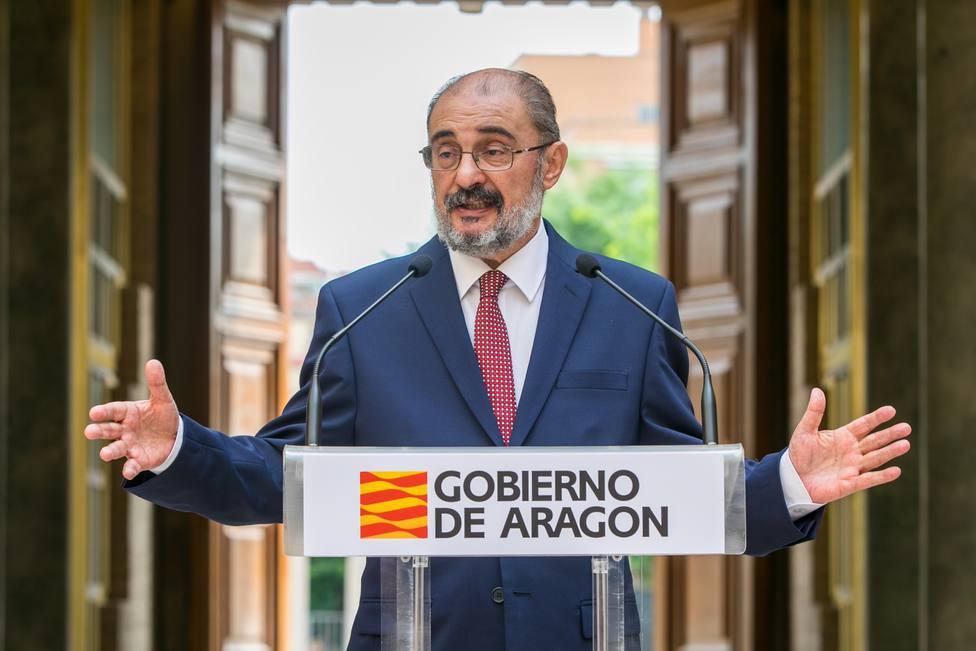 Javier Lambán considera que la mesa de diálogo de Cataluña no tiene ningún futuro