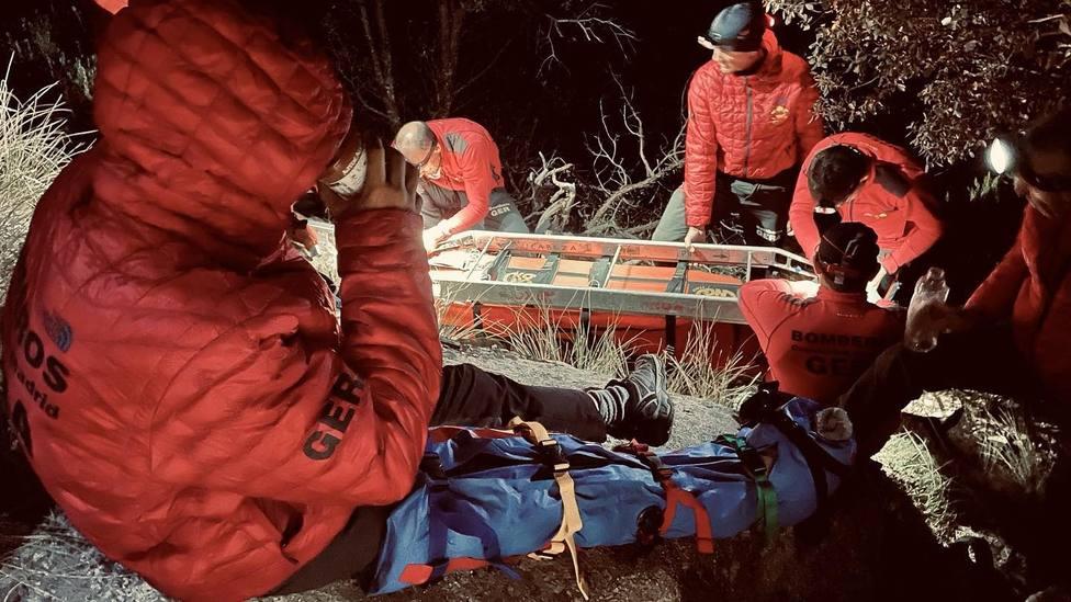 GERA rescata a un escalador lesionado tras caerse en La Pedriza