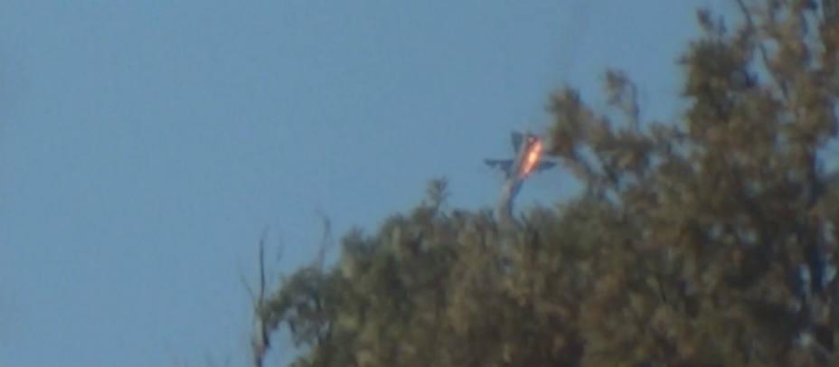 El cazabombardero derribado por Turquía. REUTERS