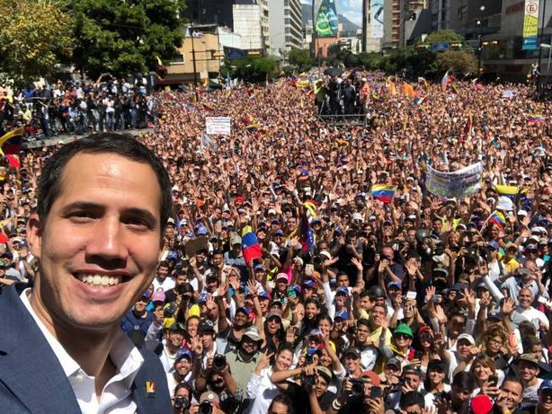 Guaidó marca el 23 de febrero como fecha clave contra Maduro