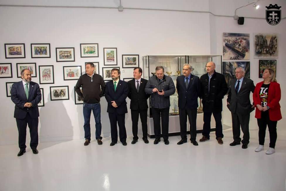 Hermanos mayores de las cofradías de Ferrol en el Museo de la Semana Santa de Ferrol -FOTO: Roberto Marín