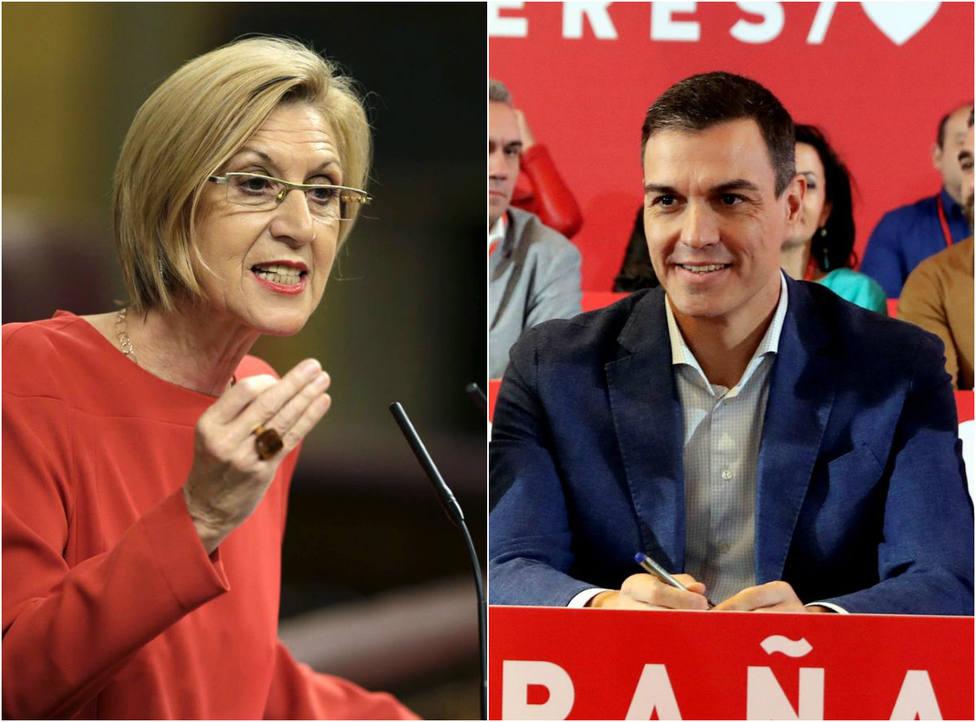 El duro recordatorio de Rosa Díez a Sánchez por no pronunciarse sobre la manifestación independentista