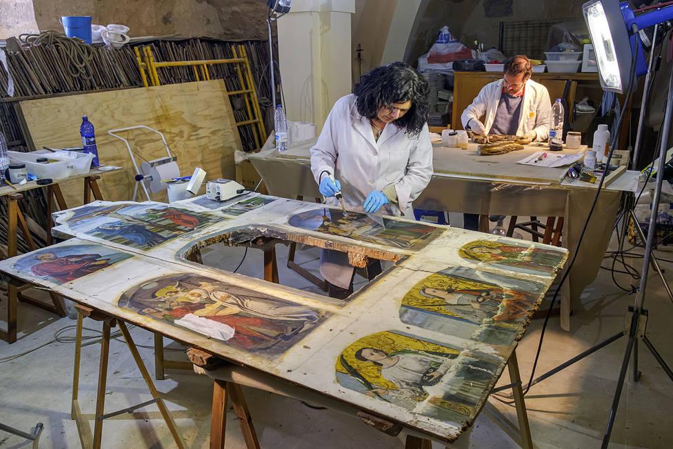Restauración retablo Frumales