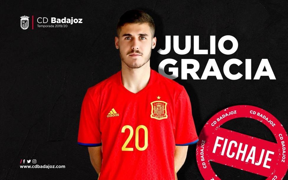 Julio Gracia llega al CD Badajoz