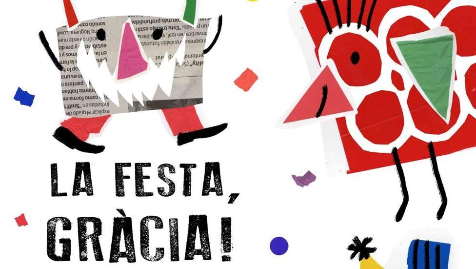Cartel de la Fiesta Mayor de Gràcia, de la ganadora del 26º concurso de carteles