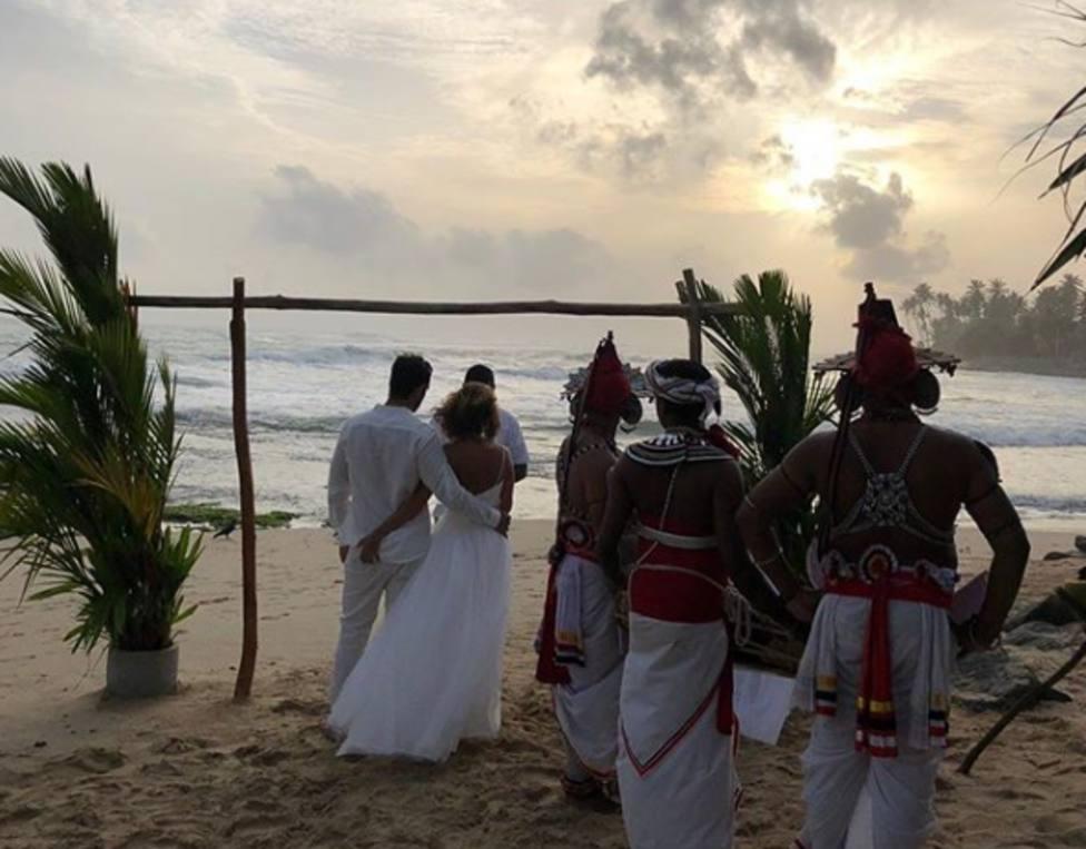 La discreta boda de María Patiño en Sri Lanka