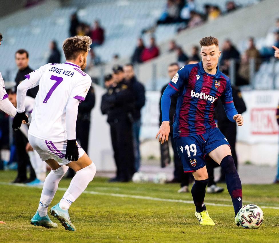 Clerc, en el partido de Copa ante el Jaén