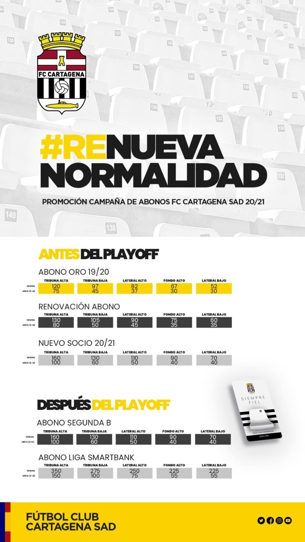 Los primeros abonados del FC Cartagena se apuntan a través de internet