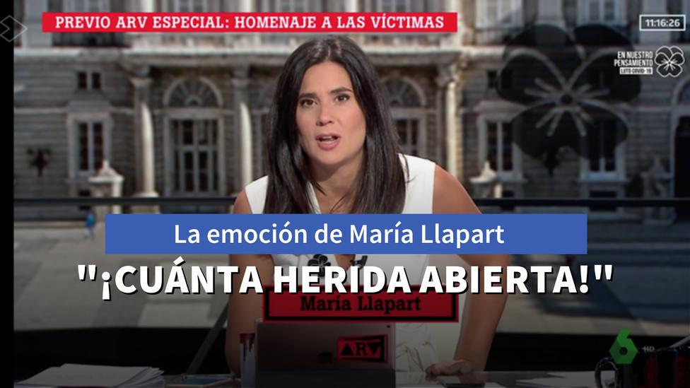 El momento en directo en el que María Llapart está al borde de las lágrimas en Al Rojo Vivo