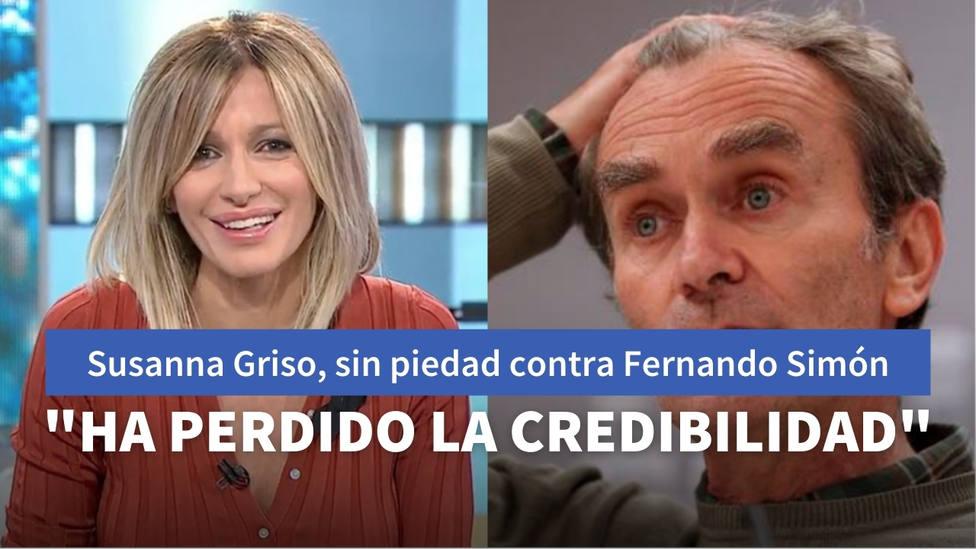 Susanna Griso estalla contra Fernando Simón por sus apariciones televisivas: ¿Tiene sentido que haga surf?