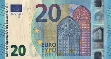 Billete de 20 euros