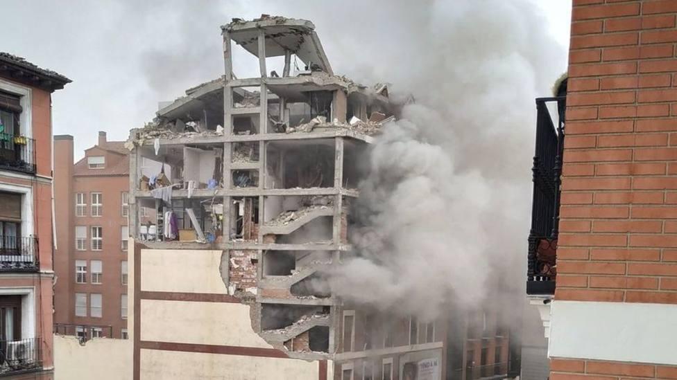 La explosión en un edificio de la calle Toledo de Madrid ha afectado a la parroquia Virgen de la Paloma