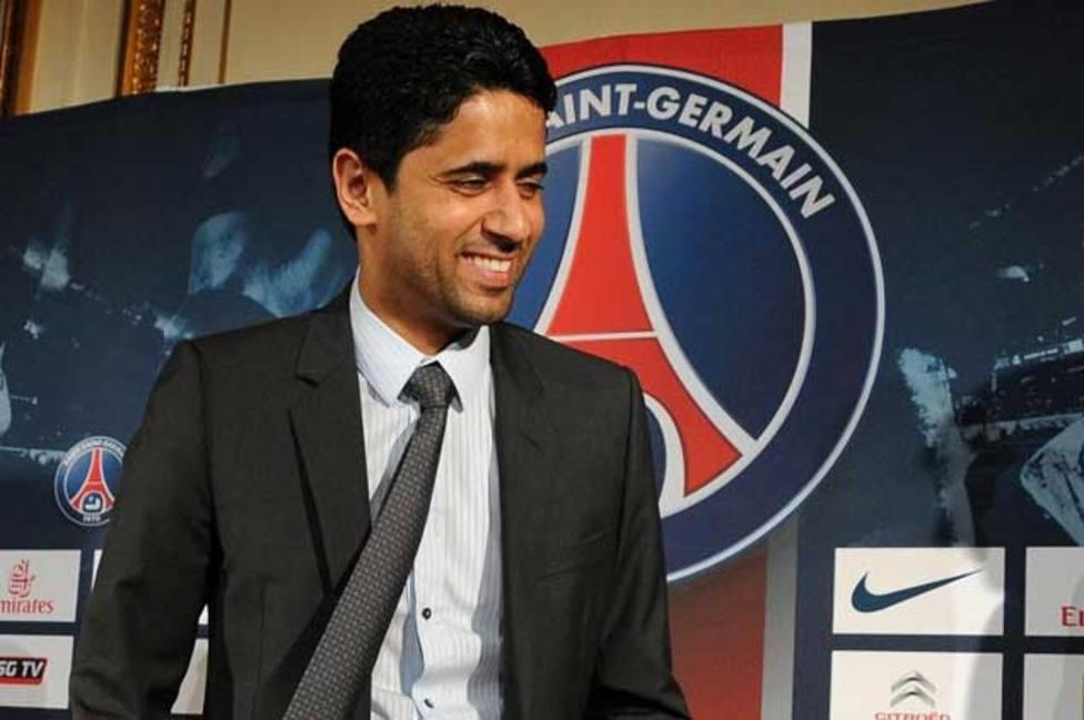 La desternillante petición de un aficionado del Barcelona a Nasser Al-Khelaïfi, presidente del PSG