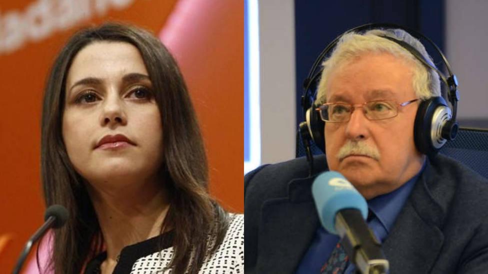 Joaquín Leguina e Inés Arrimadas