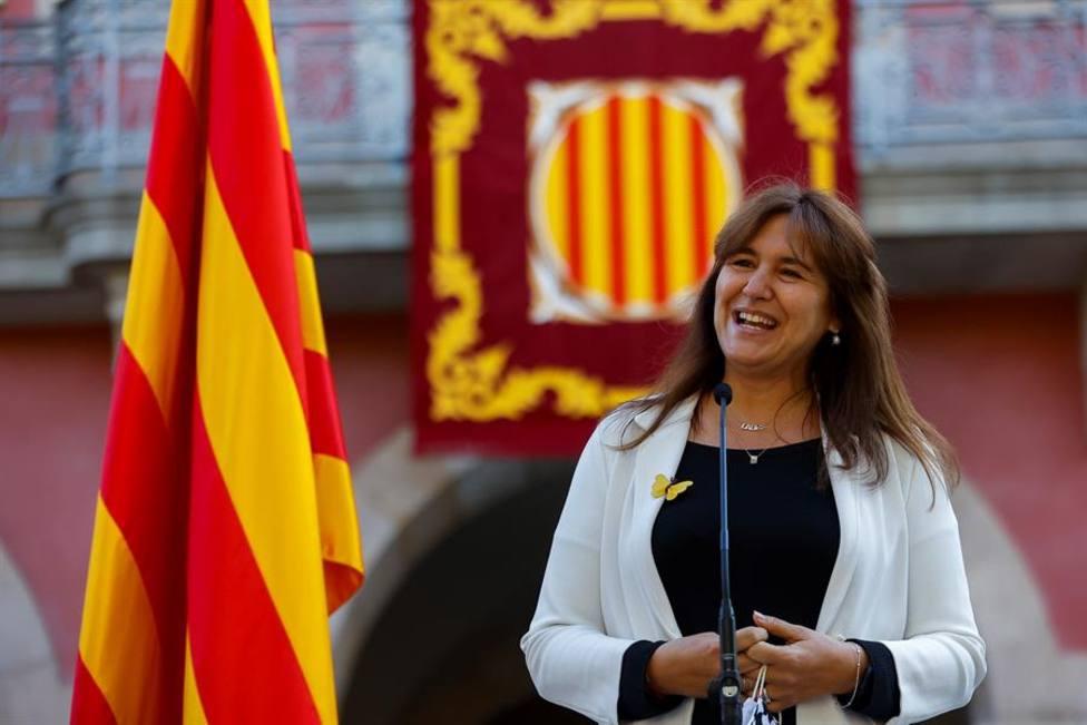 La presidenta del Parlament Laura Borràs