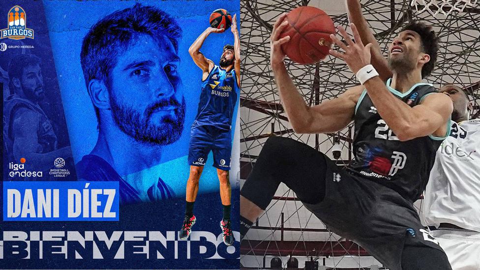 Dani Díez y Drew Crawford, nuevos fichajes del baloncesto español.