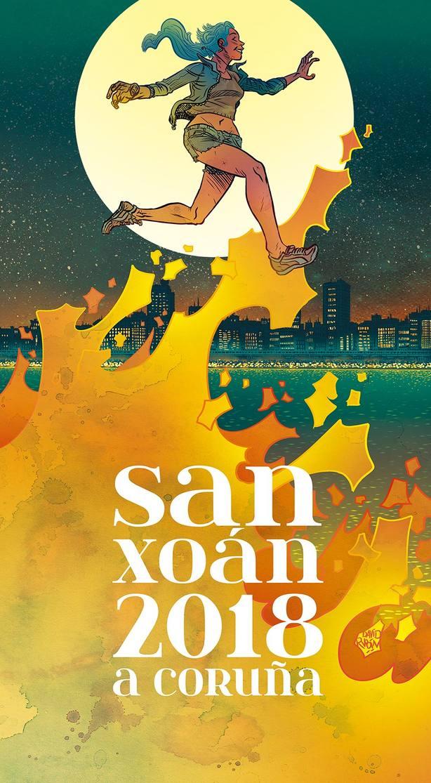 Cartel de San Juan 2018, por David Rubín