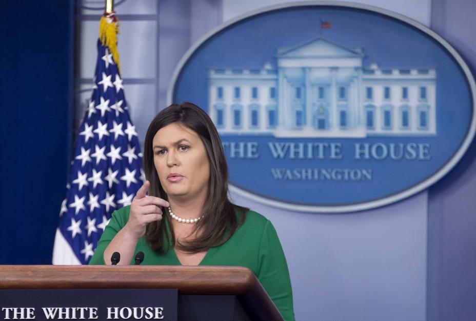 Secretaria de prensa de la Casa Blanca Sarah Huckabee Sanders