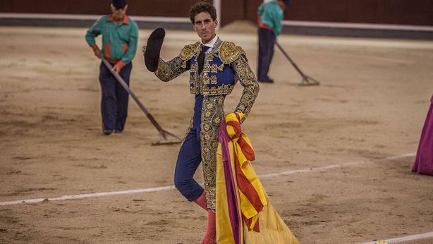 Abel Robles en su vuelta al ruedo este viernes en Las Ventas