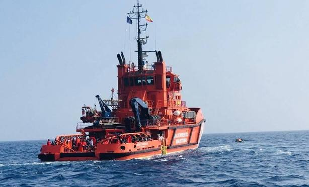 414 inmigrantes rescatados el mar de Alborán y en el Estrecho