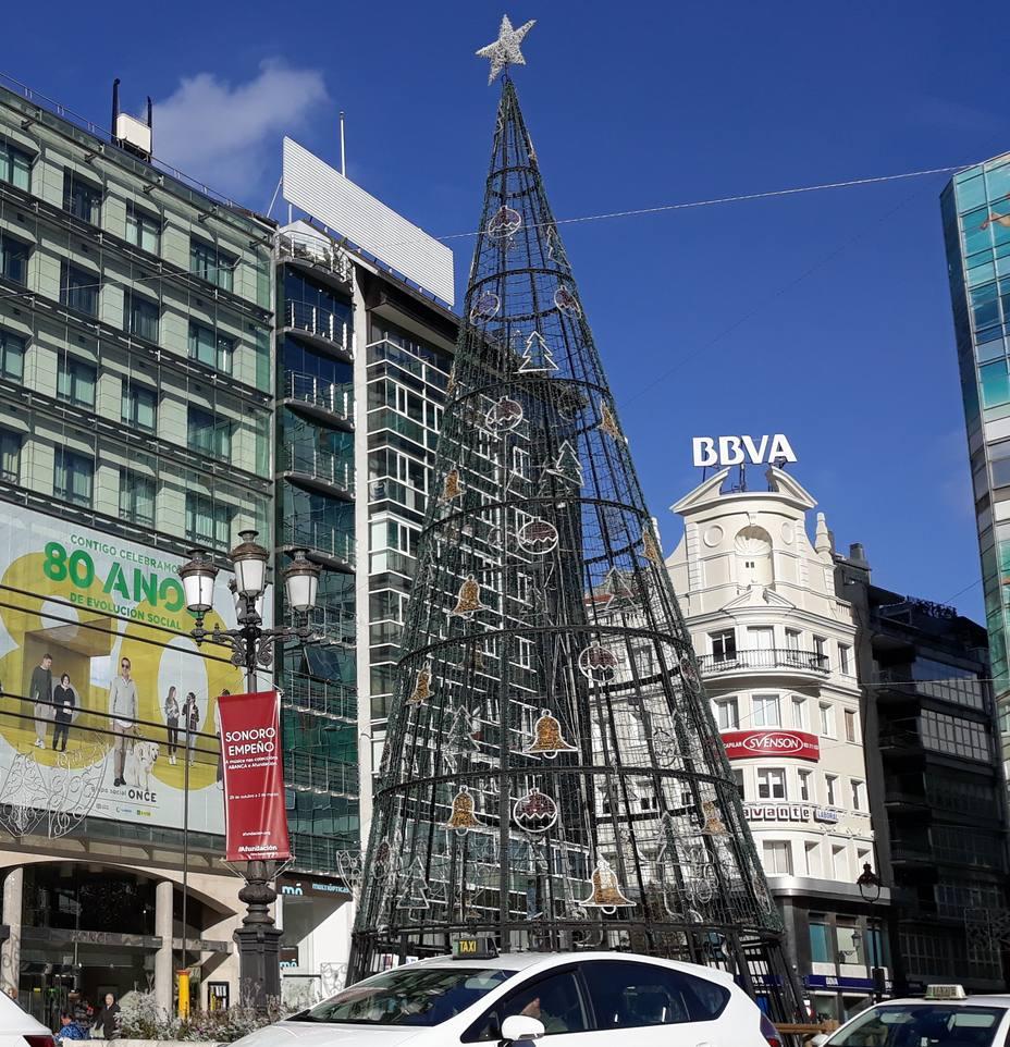 Árbol de Navidad en el Obelisco