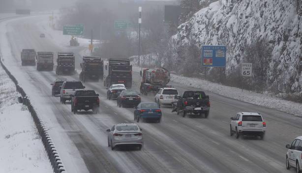 Snowy weather in Stoneham, Massachusetts