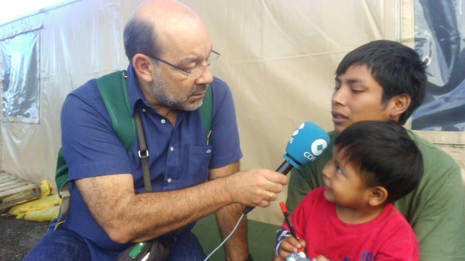 Ángel Expósito asiste a la llegada de la ayuda humanitaria a Venezuela