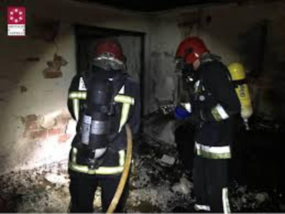 Incendio piso bomberos
