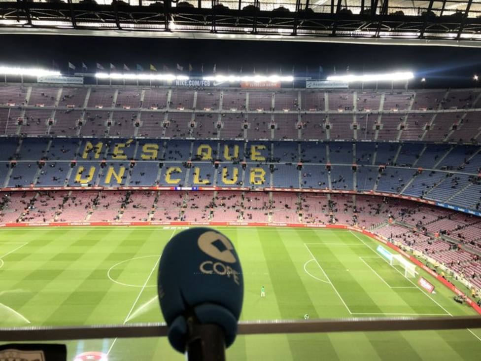 COPE. en el Camp Nou