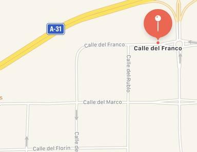 Calles con nombre de monedas en Alicante