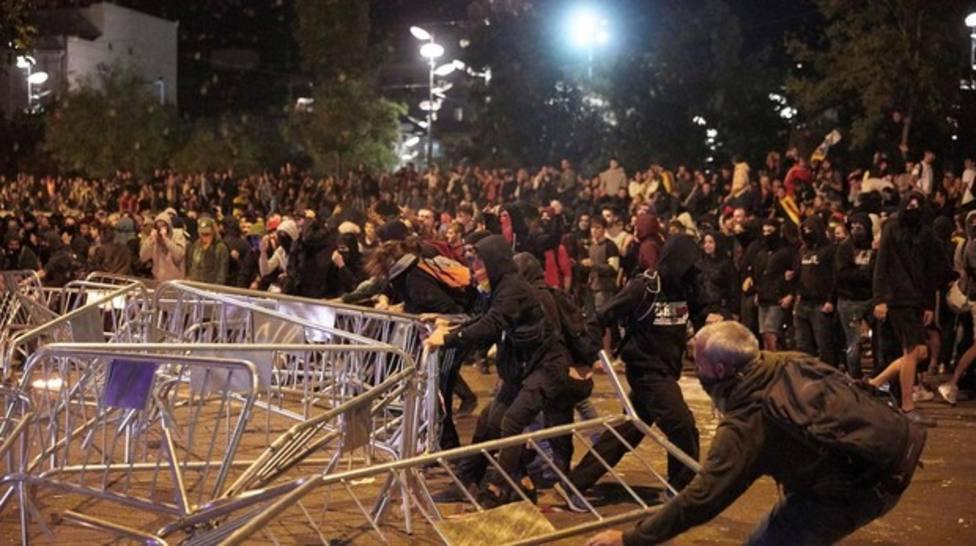Manifestaciones de radicales independentistas en Girona
