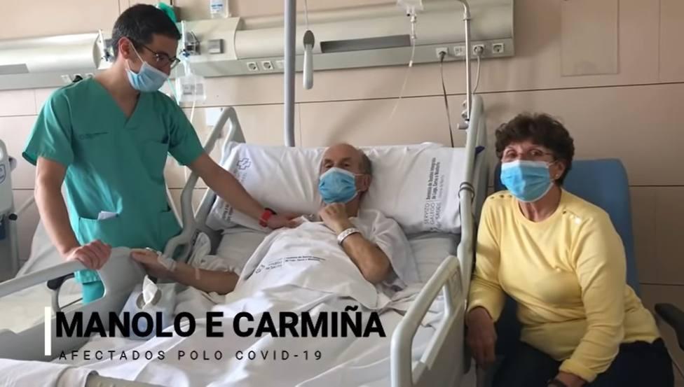 Manolo y Carmiña vivieron el drama de la COVID