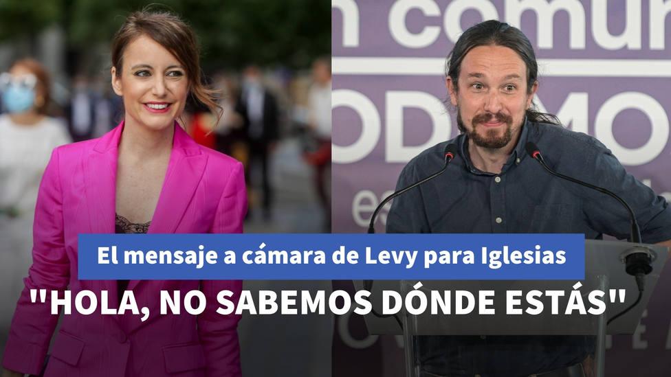 """El sorprendente mensaje a cámara de Andrea Levy para Iglesias: """"Hola, no sabemos dónde estás"""""""