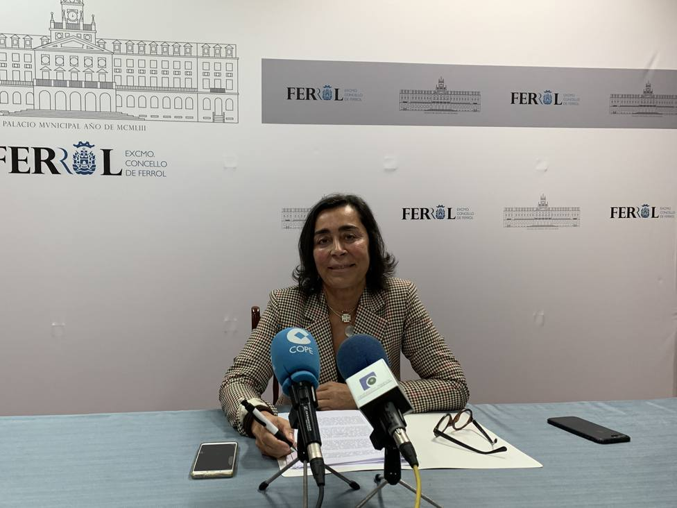 La concejala del grupo municipal del PP de Ferrol, Elvira Miramontes. FOTO: PP Ferrol