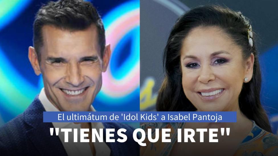 Jesús Vázquez e Isabel Pantoja (Idol Kids)