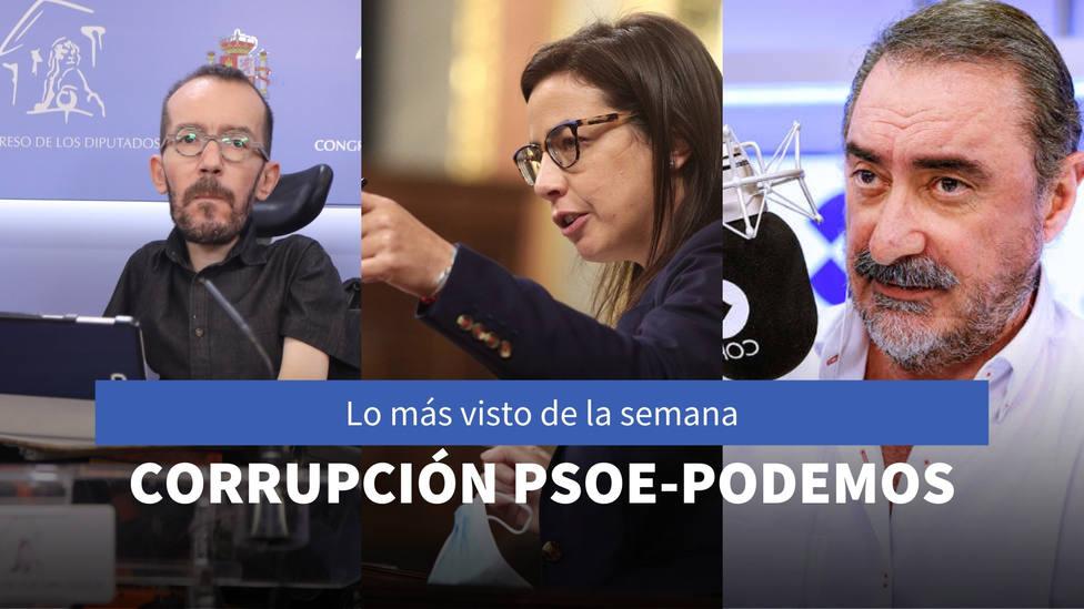 El repaso de Ana Vázquez a las corruptelas de PSOE y Podemos, entre lo más visto de la semana