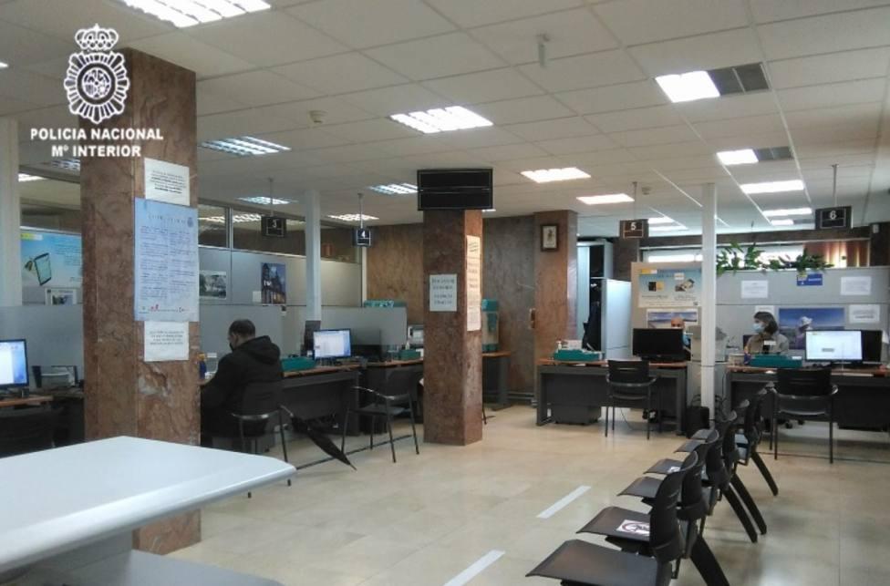 Interior de la Comisario de Ferrol para la renovación del DNI. FOTO: Ministerio de Interior