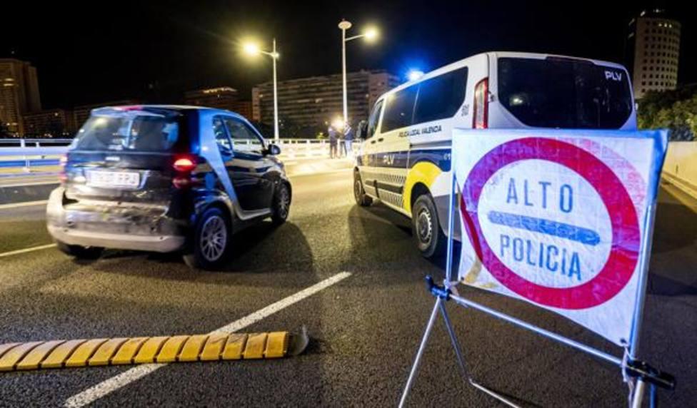 Control policial en Valencia