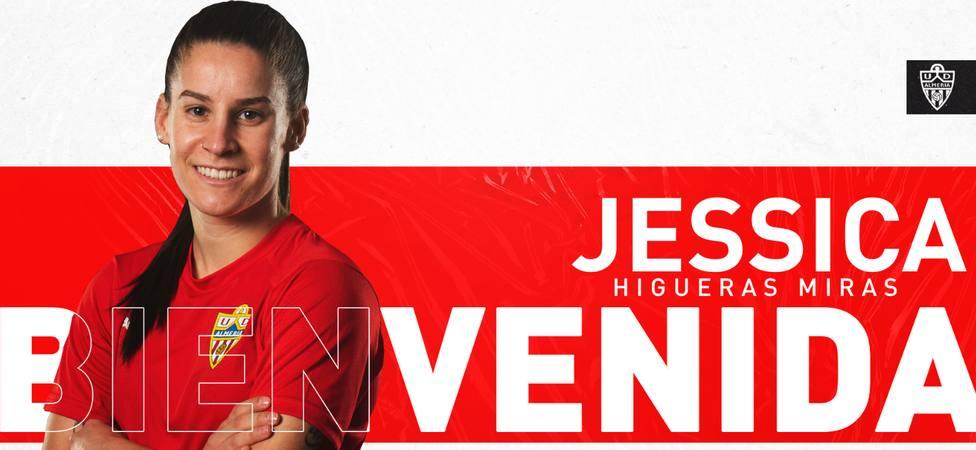 Jessica Higueras ficha por la UD Almeria