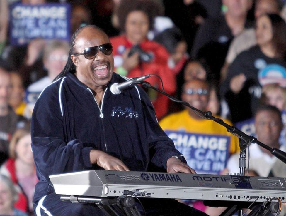 El cantante estadounidense Stevie Wonder