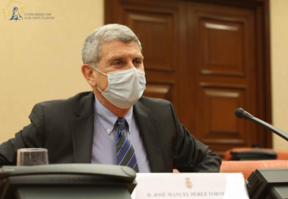 José Manuel Pérez Tornero durante su comparecencia en el Congreso el pasado 24 de enero