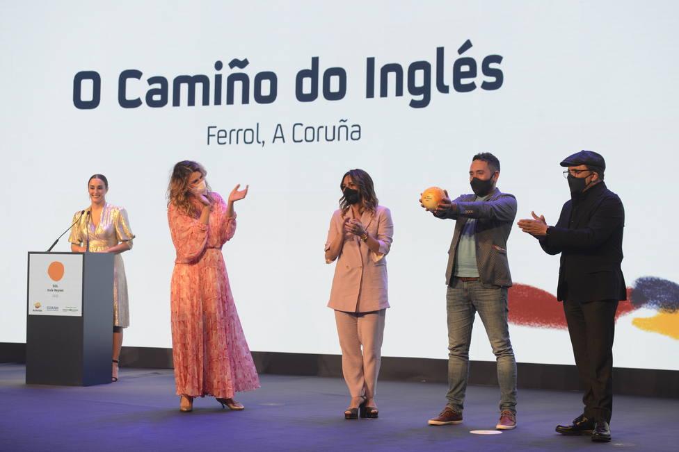 Dani López recoge el Sol Repsol en la gala de San Sebastián - FOTO: Moro & Cáliz